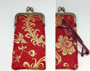 Red Eye glass case/ Smartphone case /Sun glass case / Hand-made/14