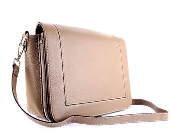 Leather Bag / Leather handbag / Leather Messenger / Leather Shoulder Bag / Gray Leather Bag / Gray Leather Handbag / Gray Leather Messenger