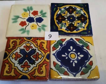Mexican Tile Refrigerator Magnet Set of 4 strong neodymium #9