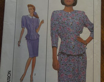 Simplicity 9038, size 8, misses, petite, two piece dress, UNCUT sewing pattern, craft supplies