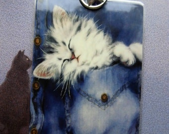 Bookmark  Cat in a Jeanspocket