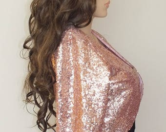 Sequin bridal jacket, Evening Bolero Jacket, Bridal Bolero, Plus size Vintage Bolero,Bridesmaid Bolero, 23colors