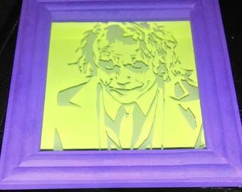Glass Etched Shadow Box