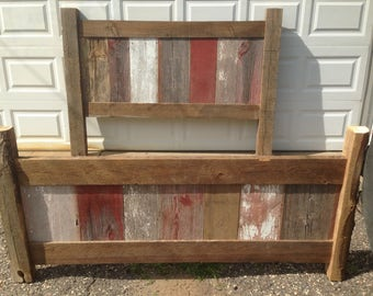 reclaimed barnwood bed frame - Reclaimed Wood Bed Frame