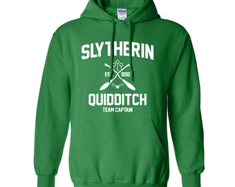 Harry Potter Sweatshirt Slytherin Sweatshirt Harry Potter Slytherin Quidditch Hogwarts Hoodie Sweater Sweatshirt Crewneck Apparel Unisex