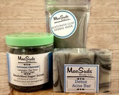 Facial Gift Set, Face mask, Sugar Scrub, Activated Charcoal Soap, Acne Care Treatment, Clay mask,Acne scar,Charcoal face mask,Face Treatment