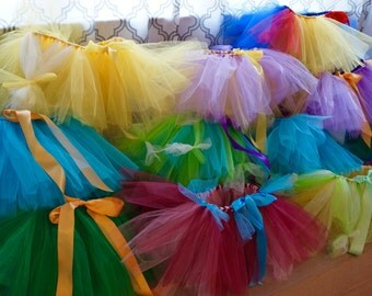 12 Little Girl Tutus- Princess Tutu Party - Bulk Tutus