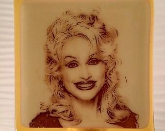 Dolly Parton Night Light Fused Glass