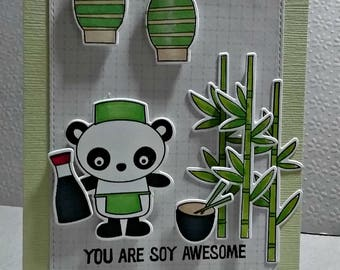 You Are Soy Awesome.. Greeting Card...
