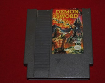 80s Demon Sword NES Nintendo classic video game entertainment system retro action gamer 90s