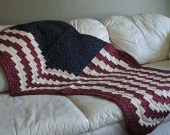 Americana Old Glory Bargello Quilted Wall Hanging
