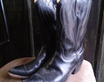 Vintage Custom 'Made in USA' Western Cowgirl Boots