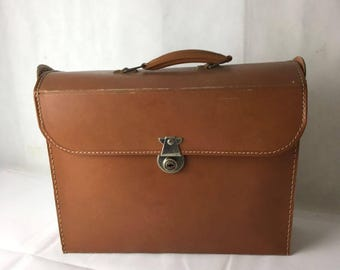 Brown Leather Square Case 60's