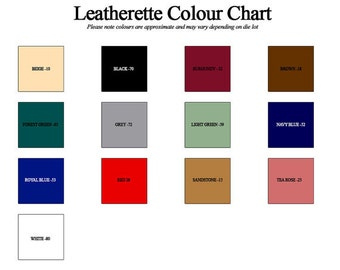 "Faux Leather Fabric (54"" x 10 Yard Roll) 14 Color Choices"