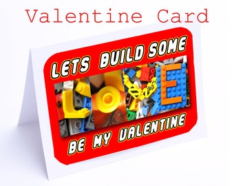 Valentines Card -- Funny cards....mostly (Valentines Lego)