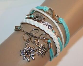 Bracelet -  Friendship - Infinity - Edelweiss