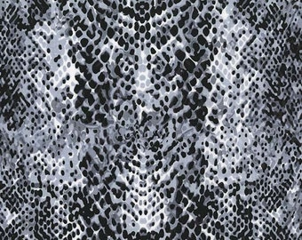 Snakeskin Fabric, Cobra Fabric, Animal Skin Fabric for Michael Miller Fabric CX 6921 Stone -  Priced by the 1 /2 yard
