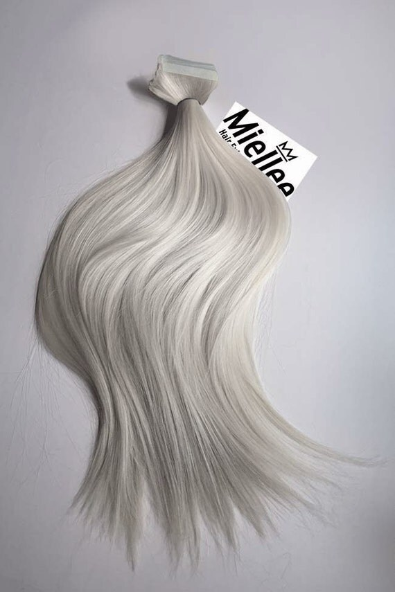 icy ash blonde tape in hair extensions silky straight. Black Bedroom Furniture Sets. Home Design Ideas