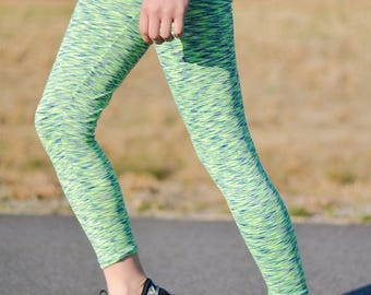 Space dye leggings, athletic leggings, workout leggings, plus size athletic leggings, space dye athletic leggings, running leggings, yoga