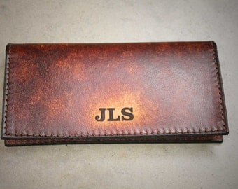 Personalized Checkbook Cover, Leather Checkbook Cover, Name, business name,  Initials, Engraved Free!