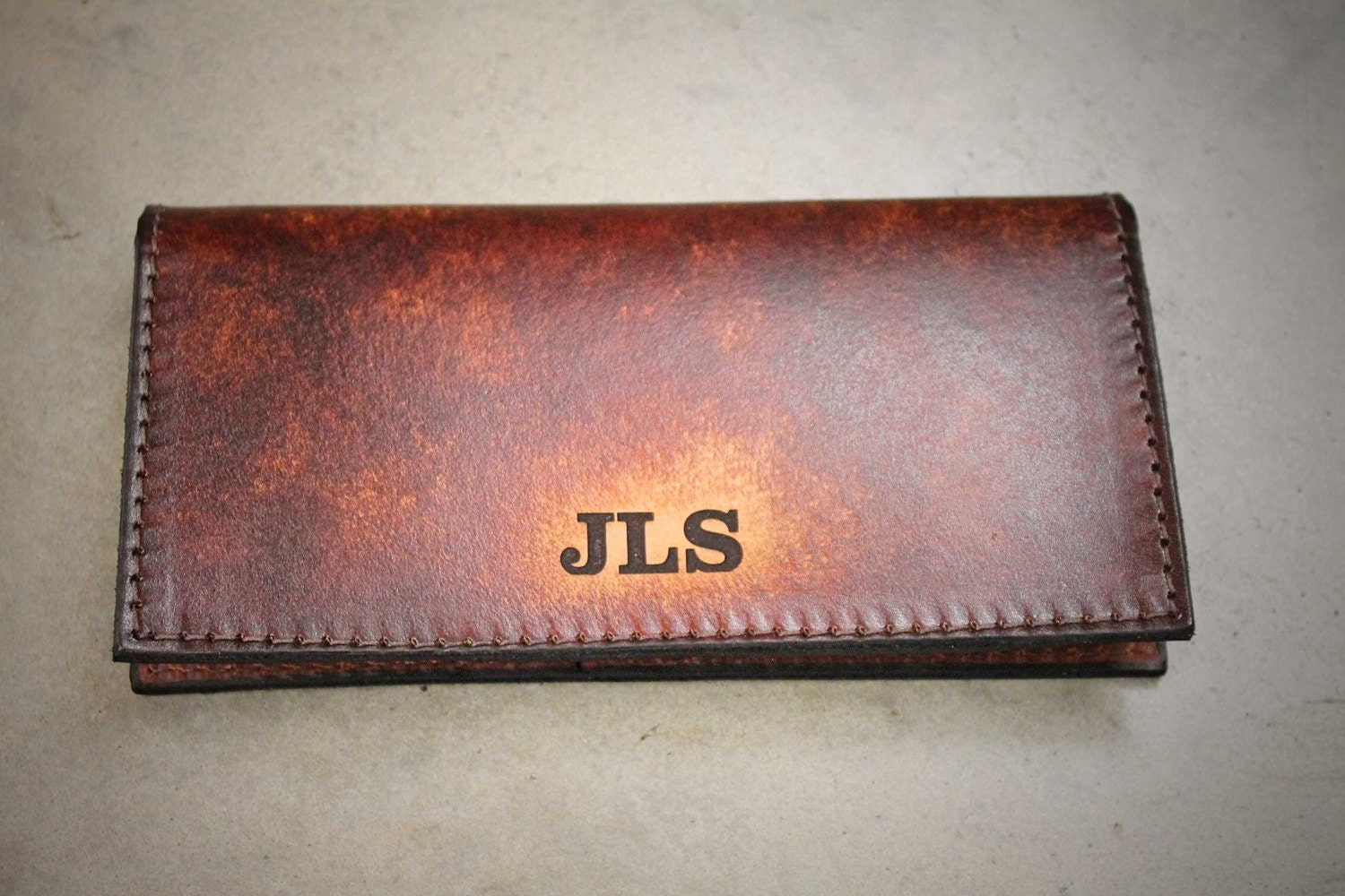 Business Checkbook Covers ~ Personalized checkbook cover leather name