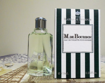 M. de Bourbon eau de toilette pour homme for men by Princesse Marina de Bourbon , 7.5 ml  0.25 fl oz new in box