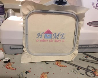 Home Is Where The Heart Is - Embroidery Design / Pattern