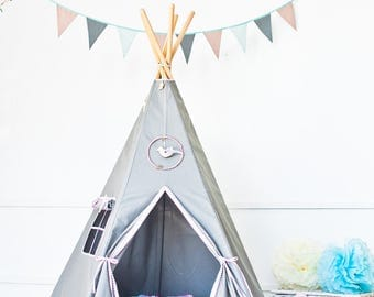 "Set tipi tent and floor-Set Teepee and quilted mat-Set teepee with mat-Set steppdecke und tipi- ""classic"""