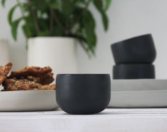 Ceramic espresso cup set in black.unique coffee mug,Modern Espresso Cups, christmas gift guide,unique gift,Housewarming gift,for the hostess