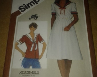 Simplicity 5844, Misses' Jiffy Top or Pull over Dress