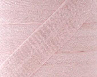 "5 YARDS One Inch Light Pink Fold Over Elastic - Light Pink 1"" Elastic For Headbands - 5 Yards of One inch FOE - Headband Supplies"