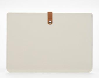 Macbook Pro 13 Case - Felt Macbook 13 Pro Sleeve - Cover for the Macbook Pro - Macbook Case - White Macbook 13 Pro Sleeve