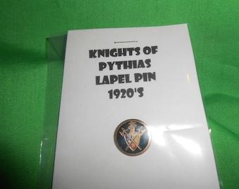 1920's Knights of Pythias Lapel Pin