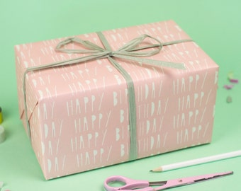 Happy Birthday Pink Wrapping Paper