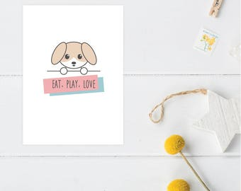 Greeting Card | Little Friends Collection | Puppy
