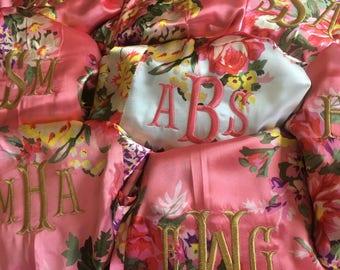 SALE!!! Monogrammed Bridesmaid Robes, Bridesmaid Gift, Monogrammed Bridesmaid Gift, Wedding Robes, Monogram, Kimono, Maternity Robe, SATIN