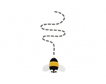 Bumblebee Down Machine Embroidery Design