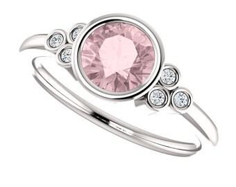 25% OFF Diamond Alternative Engagement Ring, 14K, 18K, or Platinum