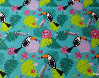 Flannel Fabric - Toucans Allover - 1 yard - 100% Cotton Flannel