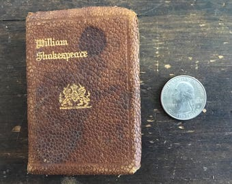 King Lear by William Shakespeare / Full Leather Miniature Book / Knickerbocker Leather & Novelty Co / New York