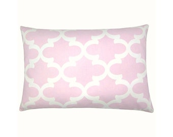 Cushion cover Bob pink white 40 x 60 cm grid Oriental graphically
