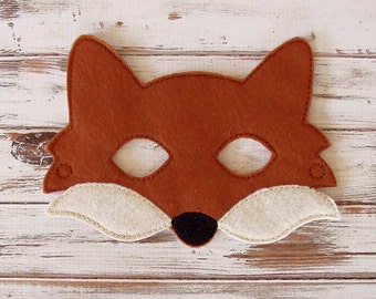 Fox Mask - Felt - Kids Mask - Costume - Dress Up - Halloween - Pretend Play