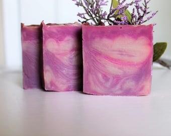 Lavender & Cream Soap Bars - Homemade Soap - Cold Process Soap -All Natural Soap
