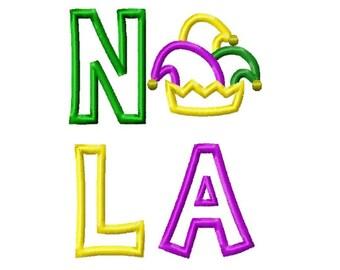 NOLA Mardi Gras Embroidery Design 5x7 -INSTANT DOWNLOAD-