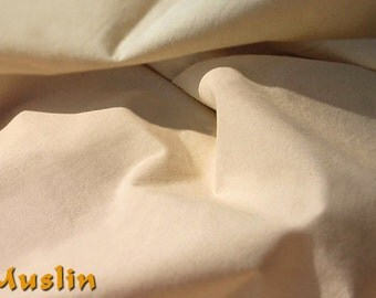 Muslin cotton fabric by the yard - 60 inches wide