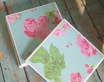 Floral coasters-Ceramic Tile Coasters - Coaster Set - Table Coasters - Tile Coaster - Coasters for Drinks