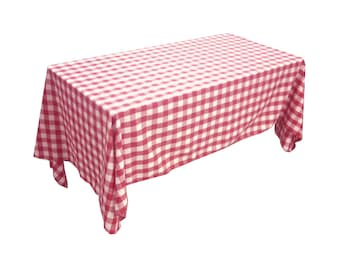ArtOFabric Poly Cotton Italian Style Checkered for Restaurants, Dinner, Party & Picnic Tablecloth
