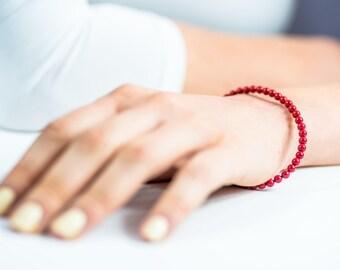 Bracelet Swarovski, bracelet en perles rouges, bijoux Swarovski,  bracelet en perles, pour mere et fille, cadeau pour les mères, d'Israel