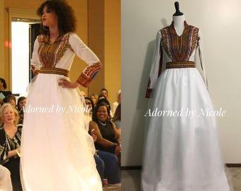 Dashiki Wedding Dress