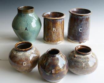 6 Vases handthrown